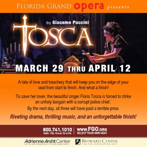 Puccini's Tosca Returns to South Florida
